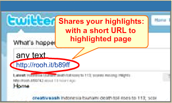 Tweet highlights with 1-click