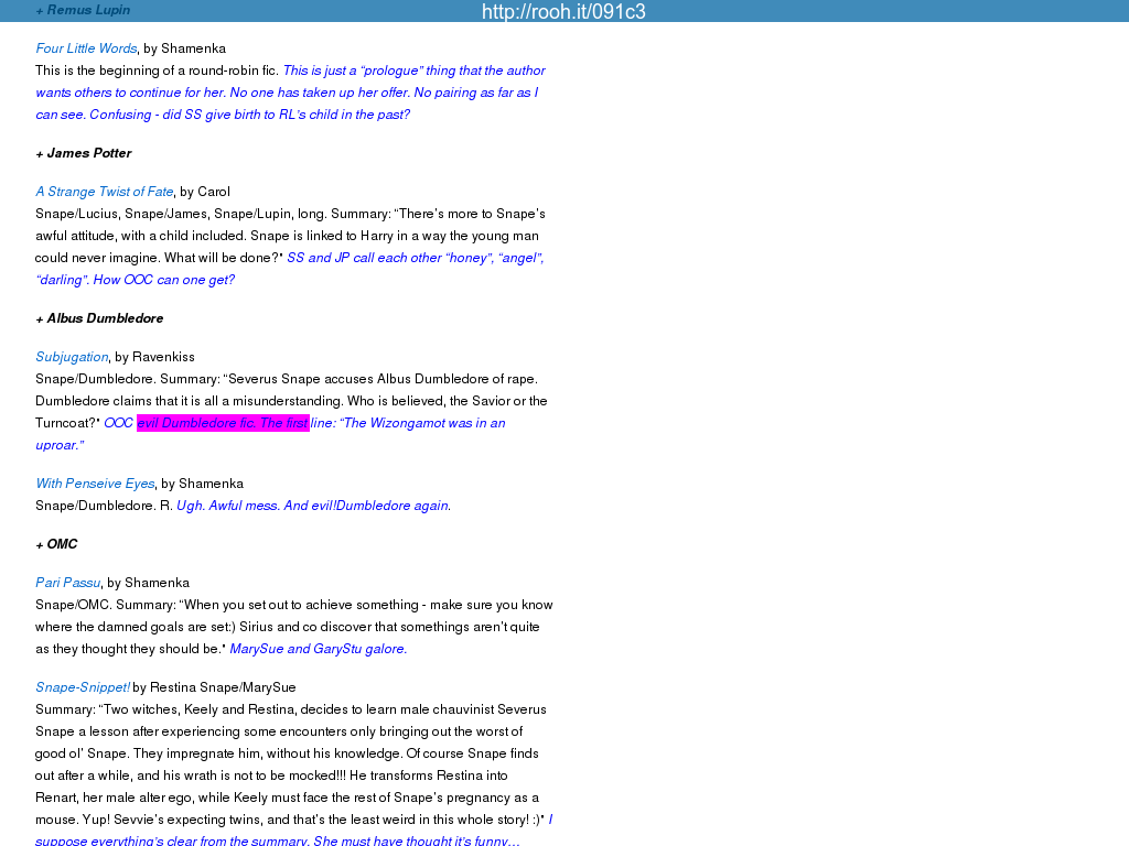 Themed list: MPreg by character : painless_j