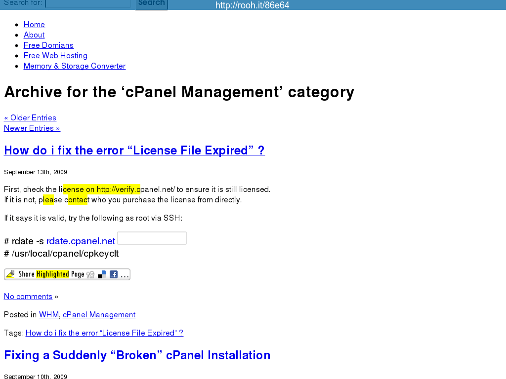 cPanel Management » Server~Techs