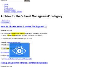 cPanel Management » Server~Techs